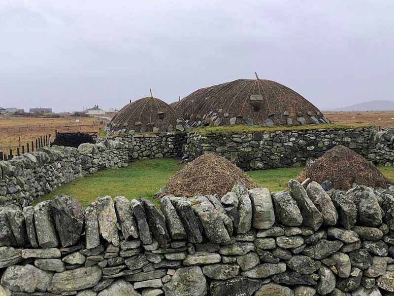 Blackhouses, once were common all across the Hebridean landscape, were one-room homes lived in by the Highlanders along with their livestock