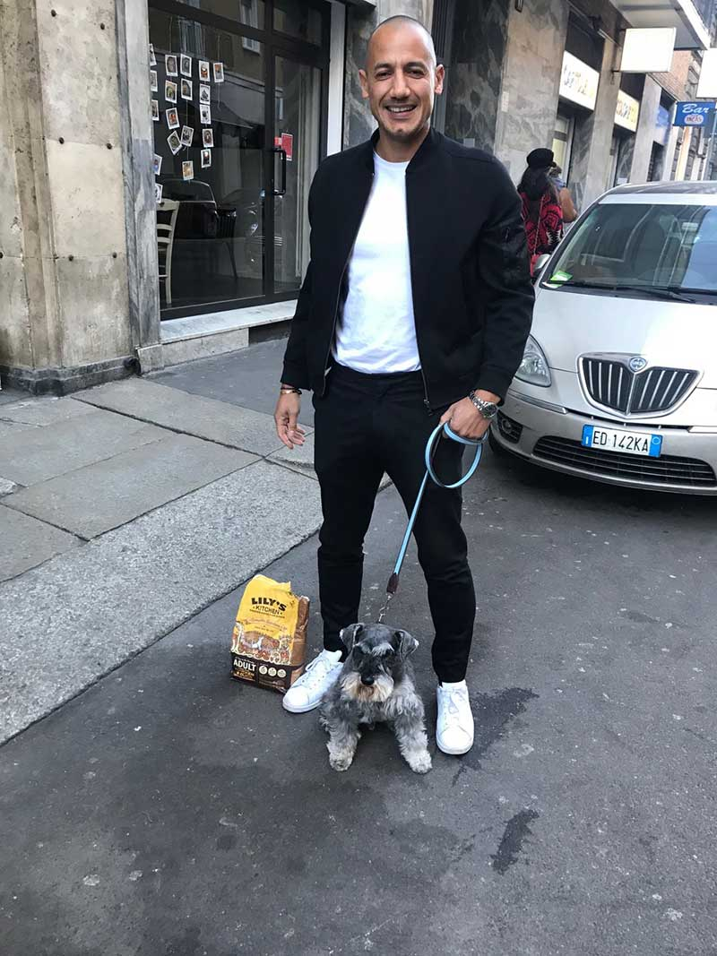 Big smiles all round as Hercules is reunited with Darren in Milan