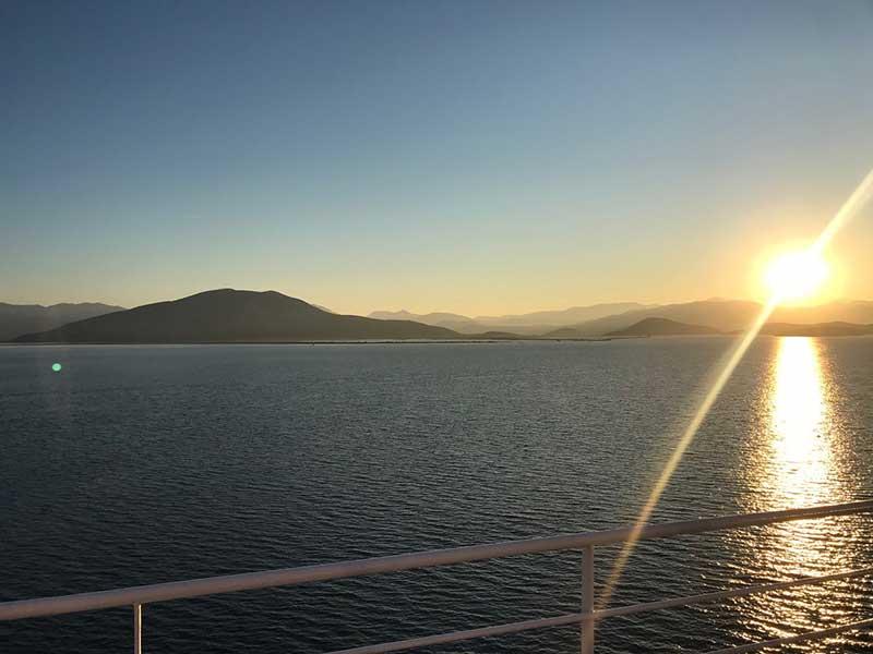 Close to dusk as we reached Igoumenitsa