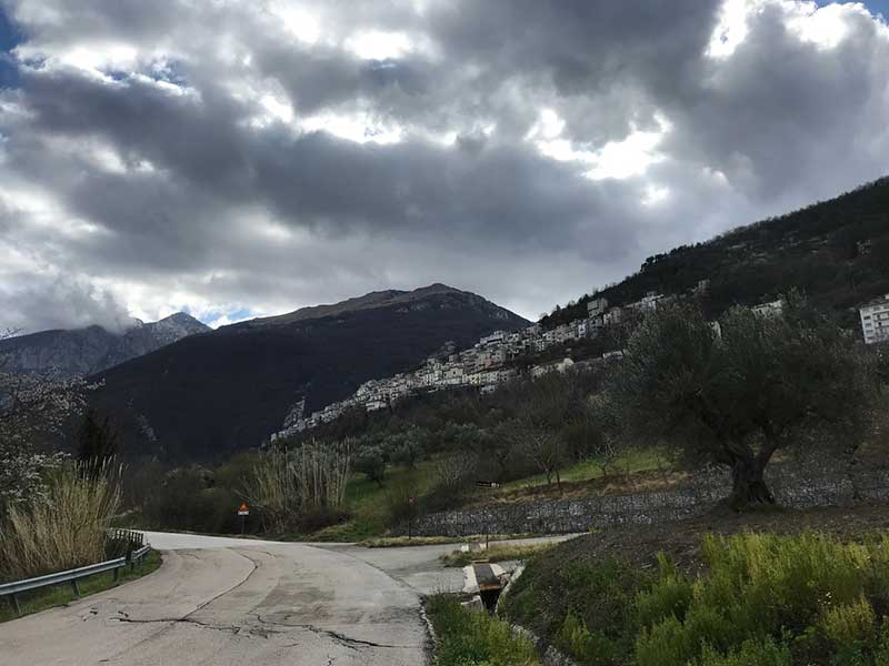 Dramatic skies as we left Abruzzo
