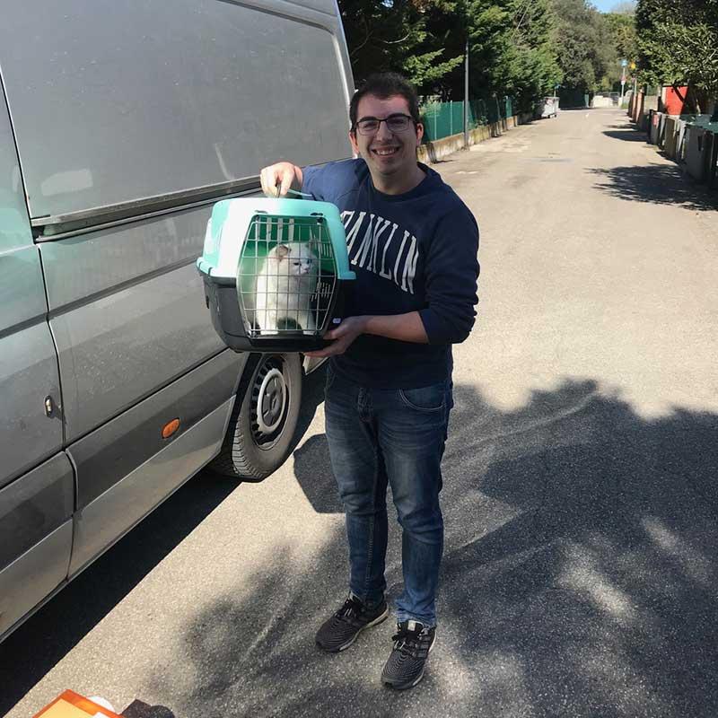 Maurizio delighted to take delivery of Josh in Porto Corsini