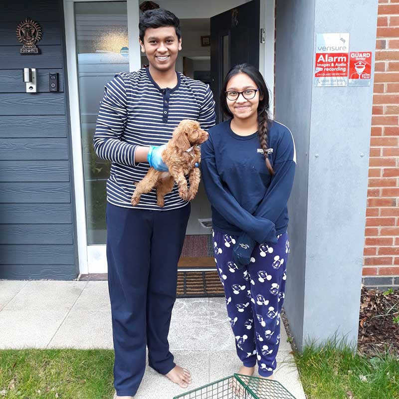 Coco arrives at her new home in Birmingham, where mum and dad are doctors and working hard in the current crisis