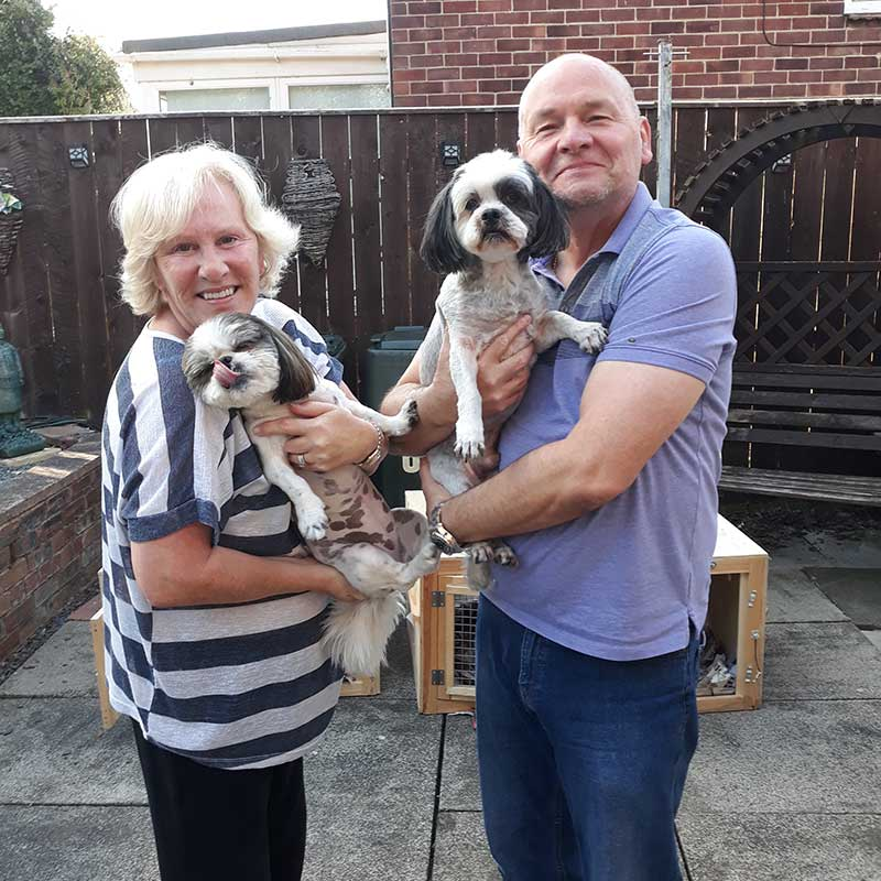 pet repatriations : Big hugs for Lhasa Apso Harley and Havanese cross Rosie