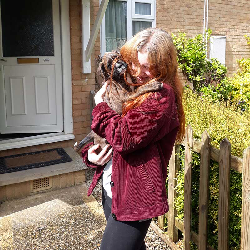 Millie's new owner Sonja thrilled to receive her in Bournemouth