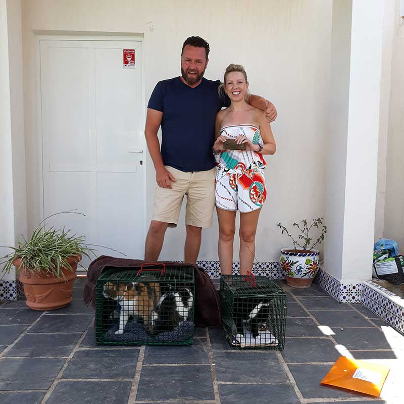 Such happiness as Tinker, Billy and Bobbins reach their new Spanish home