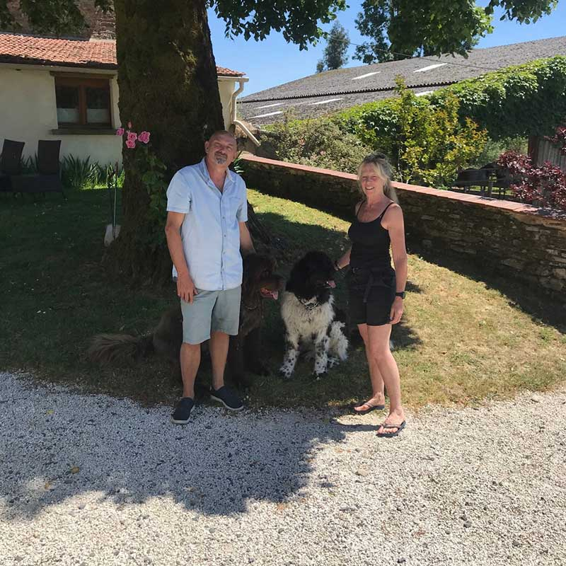 On the road : A happy reunion with the rest of the family in the French sunshine