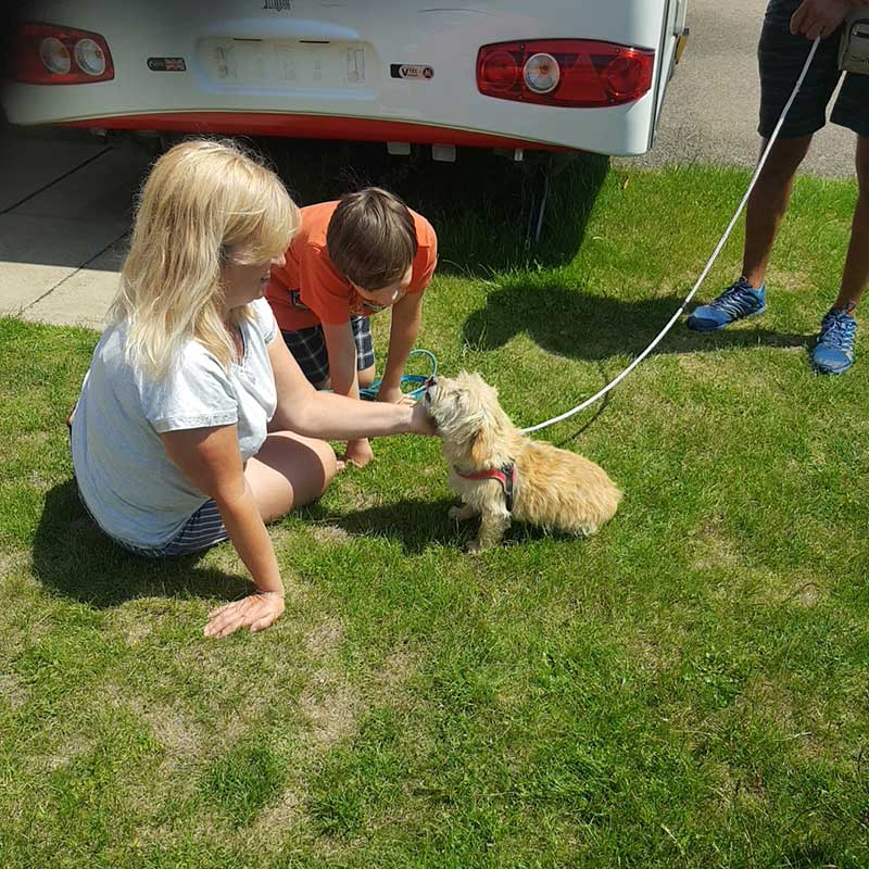 journey to Greece : Oscar meeting his new family