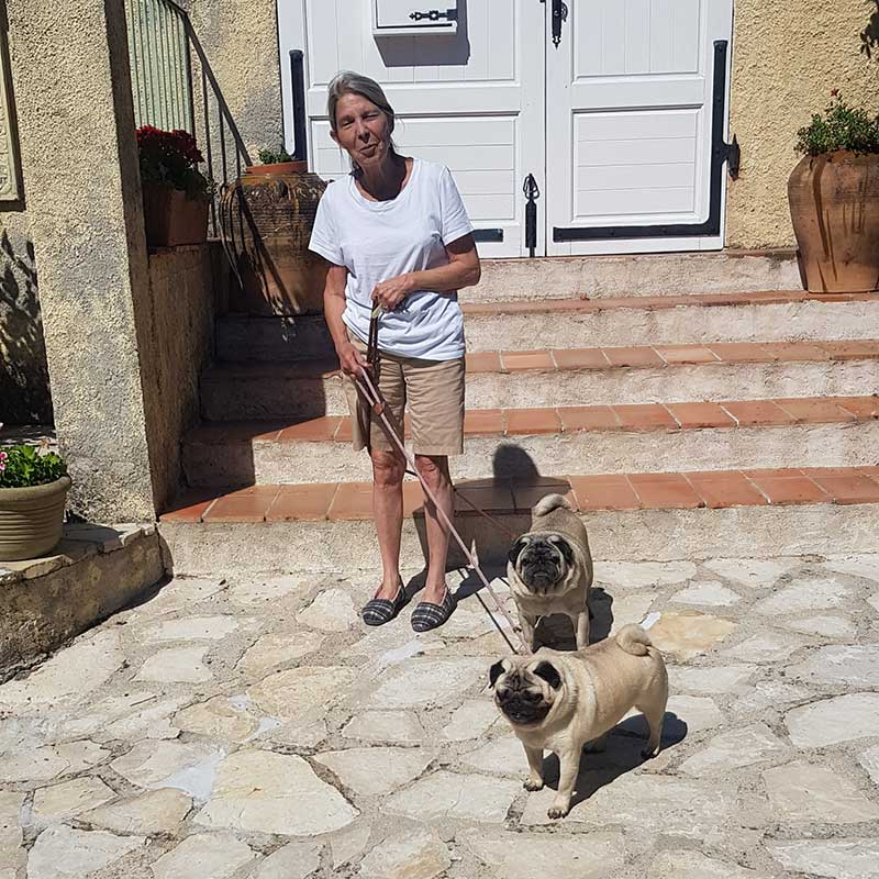 Pet passengers : Ramzi's mum was waiting to welcome Barney and Ernie to Grasse