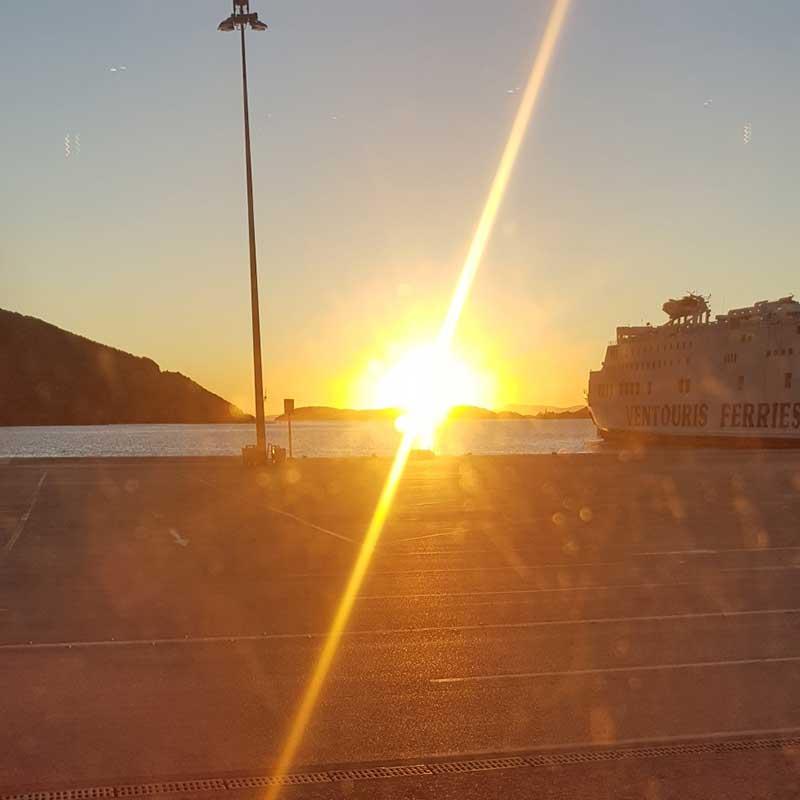 Sunset at Igoumenitsa