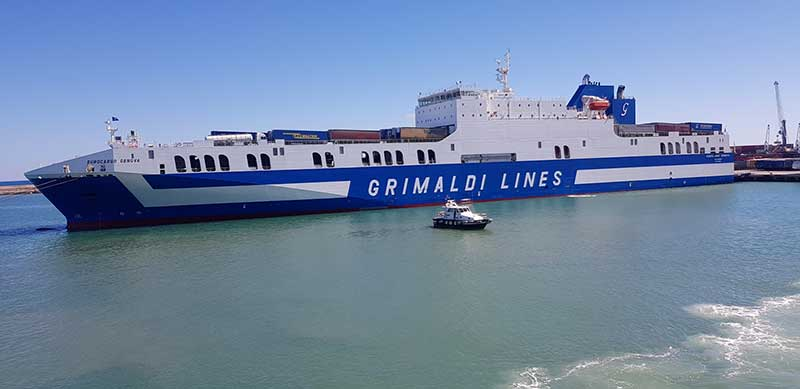 The rather impressive ferry that transported our couriers and their passengers from Greece to Italy
