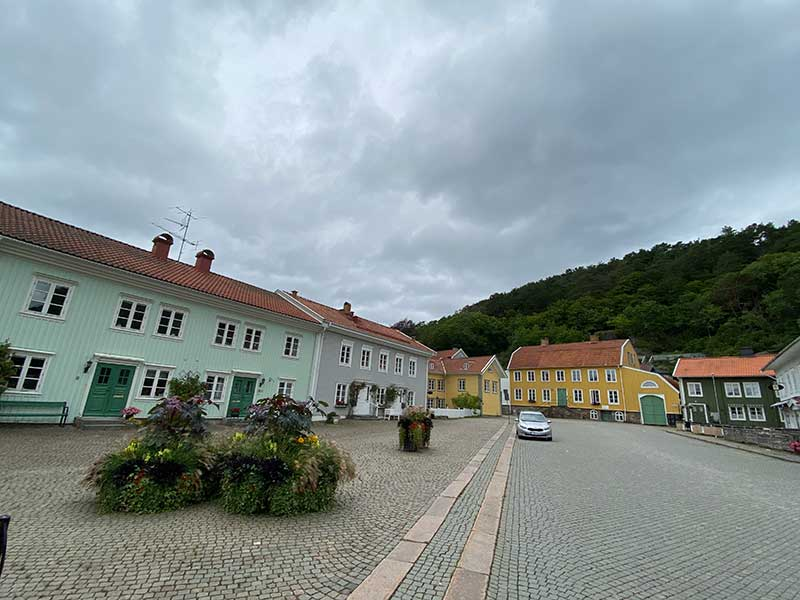 The village square really took our eye, with its colourful buildings that date back to the 17th century