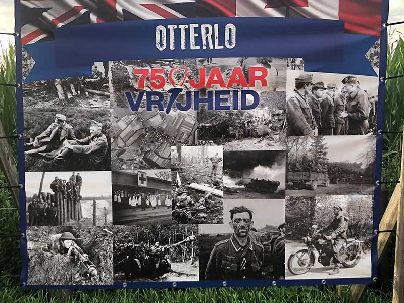 pets from the Nordics : A reminder of Otterlo's history. It turns out that the father of courier R was stationed in Otterlo during WW2 when he served in the Canadian Army.