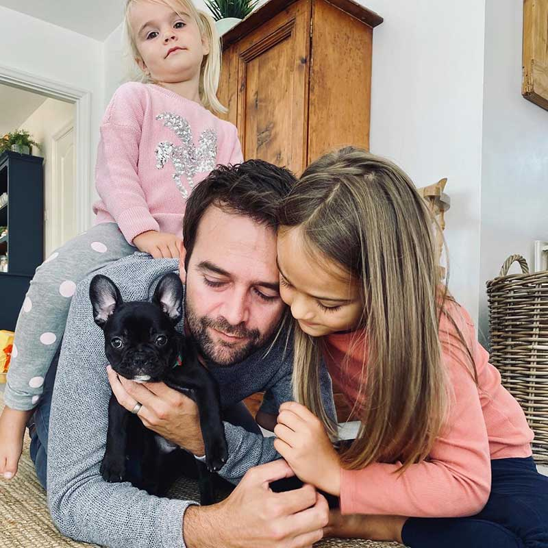 This little French Bulldog puppy's journey started in West Sussex