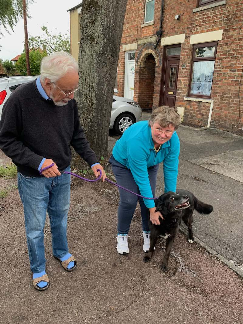 He travelled with us to Newark, where owner Lynn was over the moon to see him