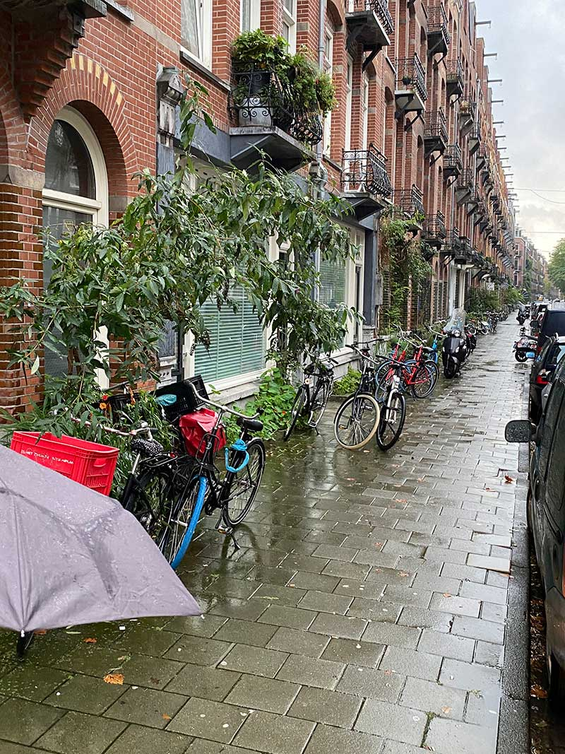The street where Mycroft lives in Amsterdam