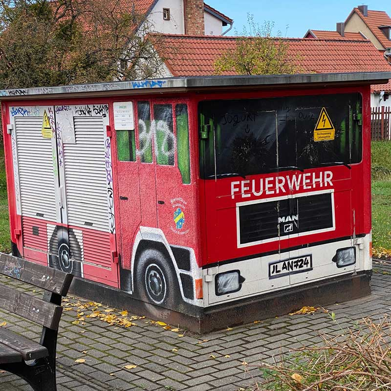 A trip to Berlin : And here we have an electricity substation cunningly disguised as a fire truck