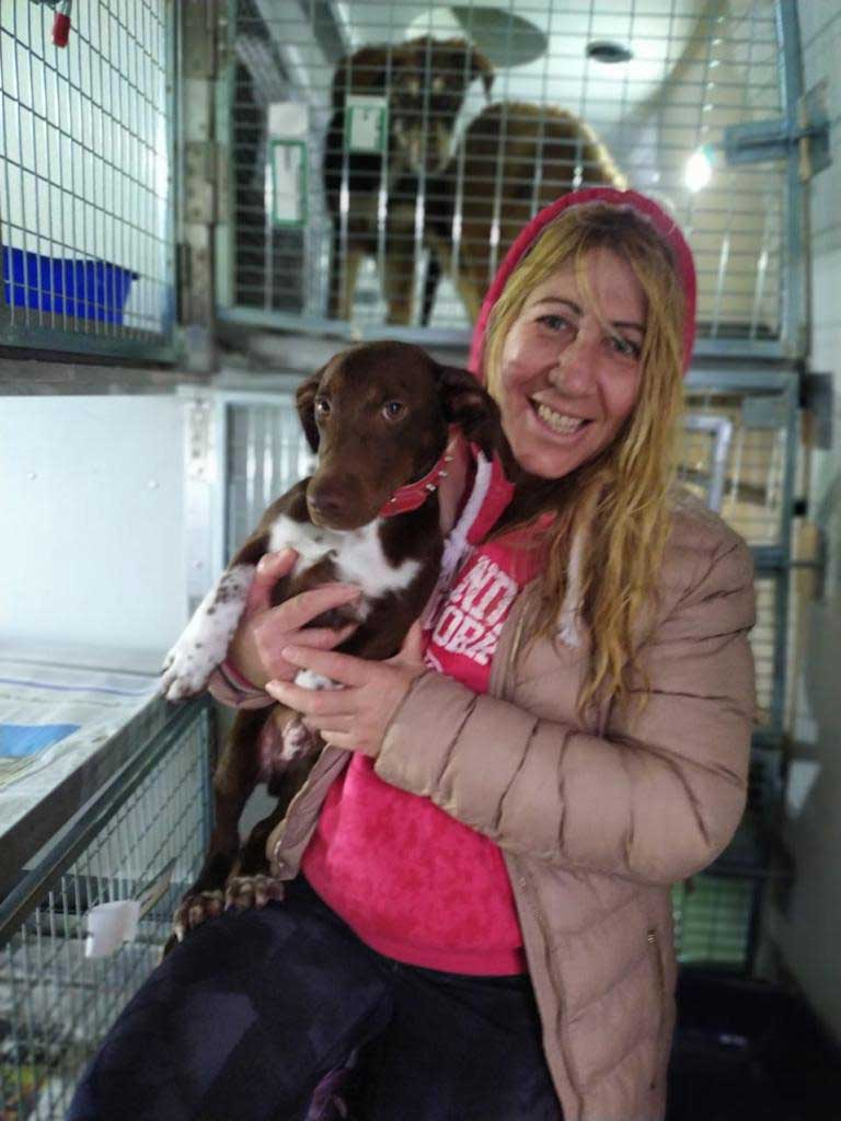 Gorgeous Chicco gets a goodbye hug
