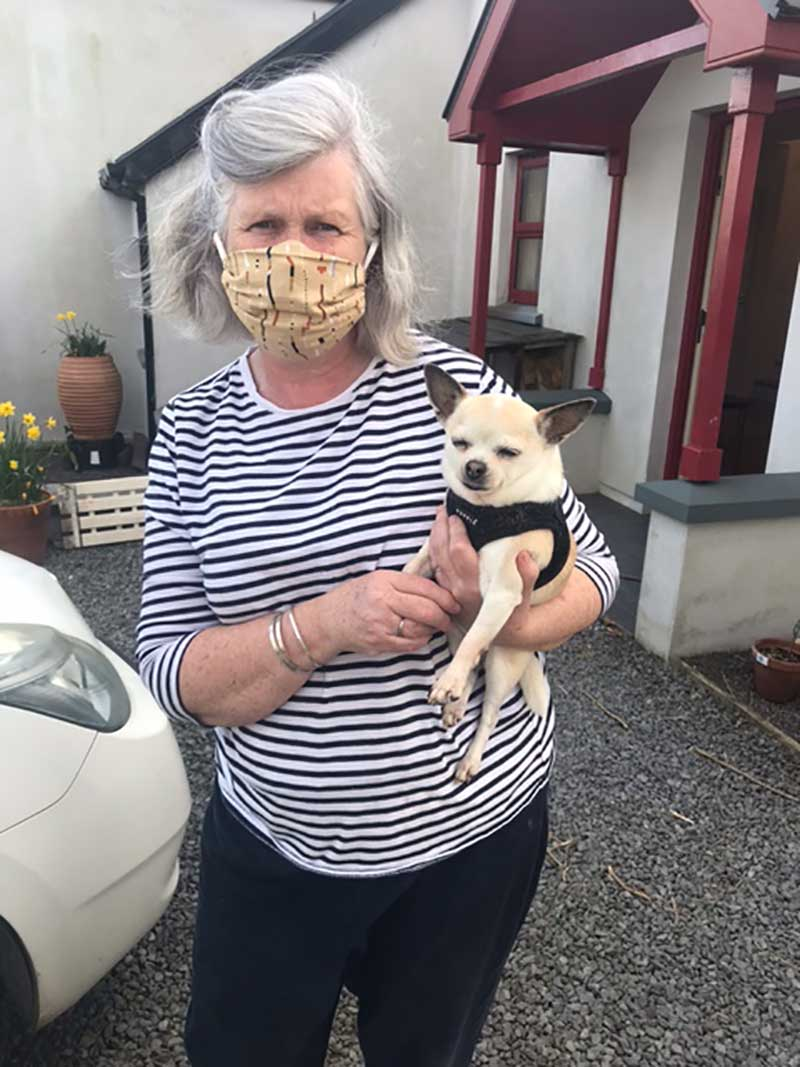 Dear little Maggie travelled with us from Cork…