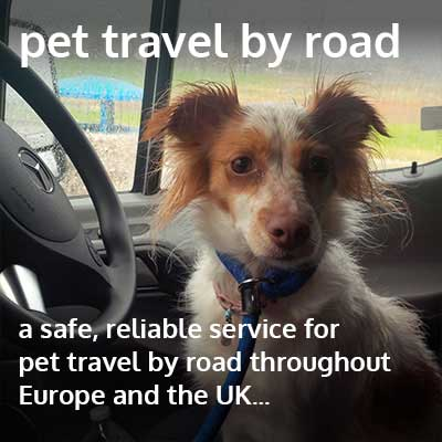 pet travel by road through Europe