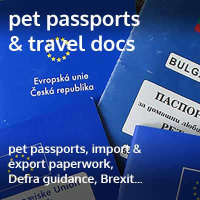 pet passports & travel docs