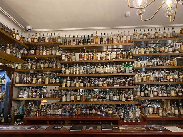 The hotel holds the Guinness World Record for the largest number of commercially available whiskies in a bar — 1,073 to be precise!