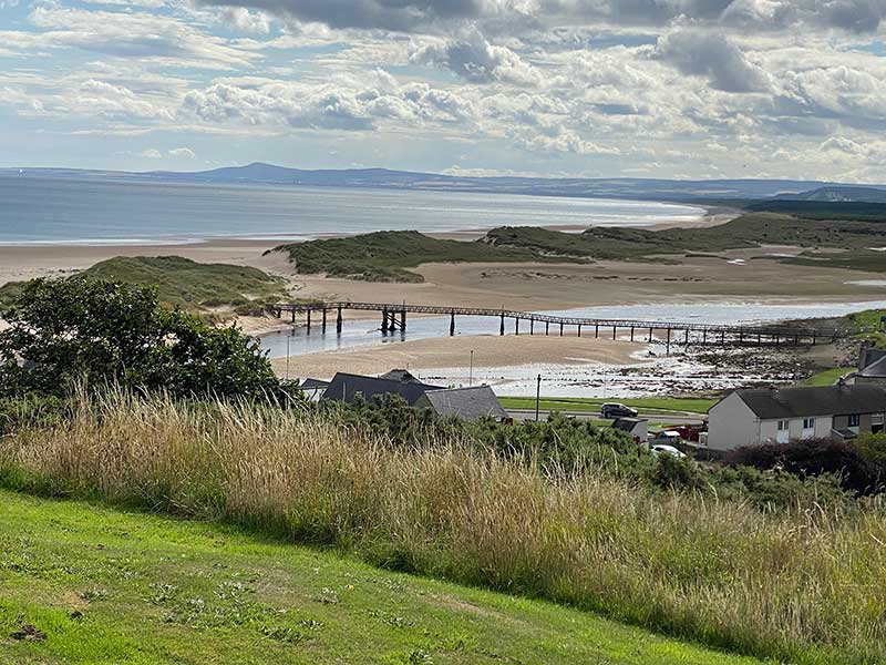 Tartan trips: Ramsay McDonald was born in Lossiemouth and is buried there. This is his view.