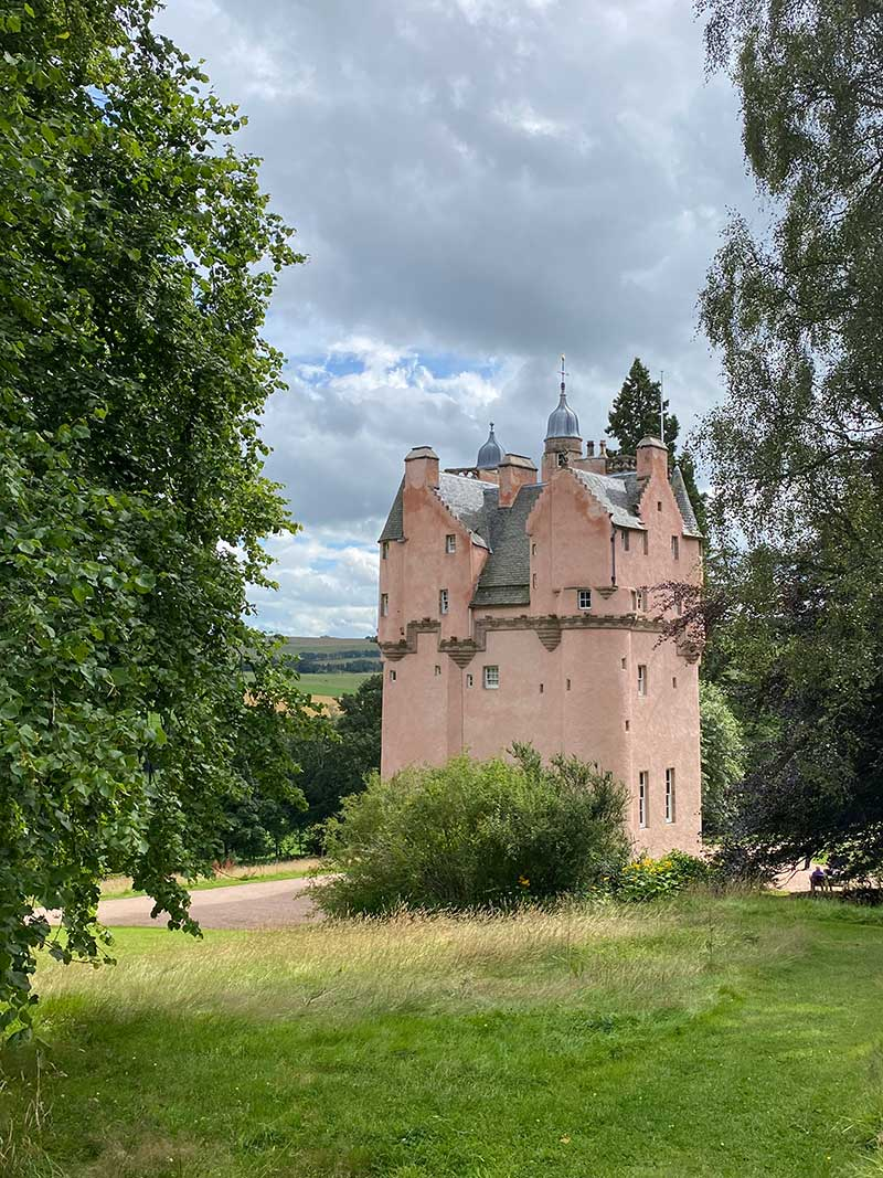 Tartan trips : We were struck by this spectacular pink castle at Craigievar in Aberdeenshire. It's said to be the inspiration for Disney's Cinderella Castle.