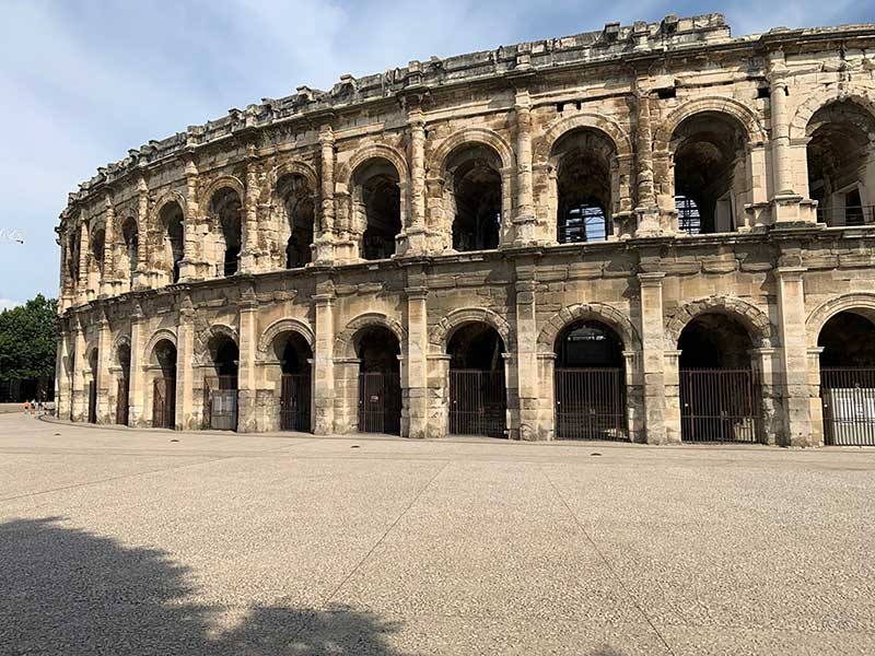 Courier Ricardo had a few hours spare in the southern French city of Nimes to be a tourist — he had quick look at the Arena, a Roman amphitheatre…