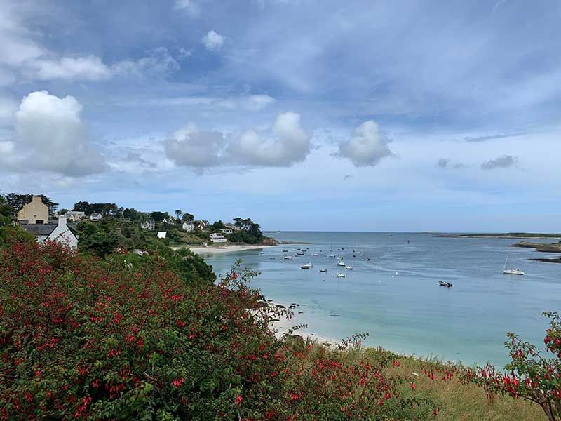 Arrival at Saint Pabu, in Brittany of northern France